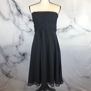 WHBM strapless gathered lined dress